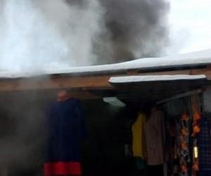 В Архангельске на рынке произошел пожар