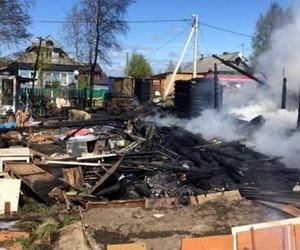 В Новодвинске семья лишилась дома из-за пожара
