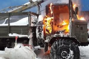 В поселке Соловецком произошел пожар