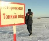 Житель Архангельска решил перейти реку по тонкому льду
