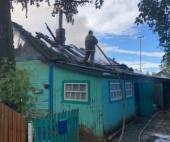 В Плесецком районе горел частный дом