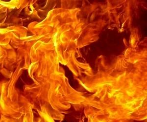 Заброшенное деревянное здание магазина горело в Архангельске