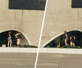 В Архангельске две девушки сушили одежду около Вечного огня