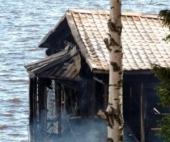 В Архангельске сгорел ночной клуб на воде