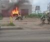 В Архангельске горел внедорожник