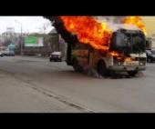 В Архангельске в автобусе произошел пожар