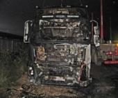 В ночь на субботу в областном центре неизвестные сожгли четыре лесовоза одновременно