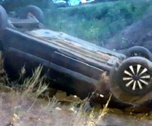 В Архангельской области перевернулся автомобиль