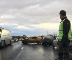 На северодвинской трассе произошло ДТП с тремя машинами