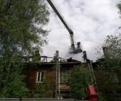 В центре Архангельска произошел пожар