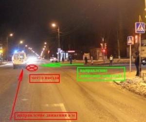 В Северодвинске машина Скорой помощи сбила женщину