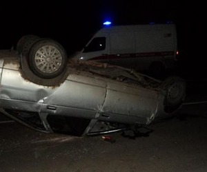 В Соломбале пьяный водитель перевернулся в ДТП