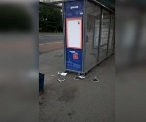 Полиция задержала вандалов, громивших остановки в Архангельске