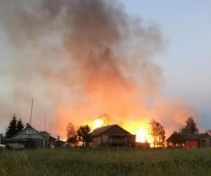 В Архангельской области в пожаре погиб пенсионер